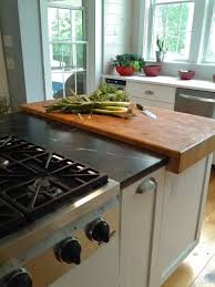 countertops stainless steel stove top butcher block countertops