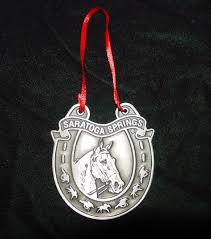 pewter horseshoe ornament ornaments the saratoga collection