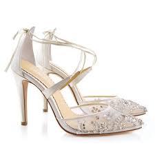 wedding shoes embellished heel florence embellished ivory wedding heels shoes