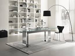 home design modern home office glass desk industrial expansive in