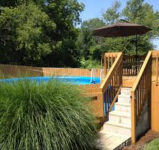 landscaping above ground pool landscaping above ground swimming