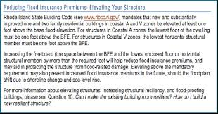 Flood Insurance Premium Estimate by Flood Zones Insurance Ri Shoreline Change Special Area