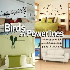 wall decals stickers home decor home furniture diy birds on a powerline wall stickers home transfer graphics decal decor stencils