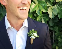 Groomsmen Boutonnieres Rustic Boutonniere Winter Boutonniere Woodland Wedding