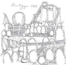 drawn park amusement park pencil and in color drawn park