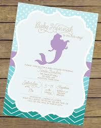 mermaid baby shower mermaid baby shower invitations 6715