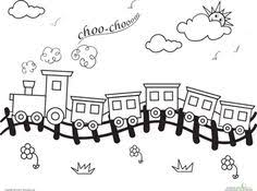 free printable kids colouring pages train bridge