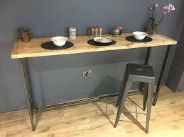 Oak Breakfast Bar Table Wooden Breakfast Bar Rumovies Co