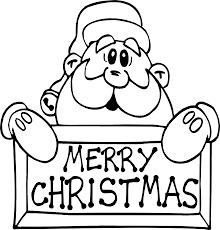 coloring pages christmas santa coloring