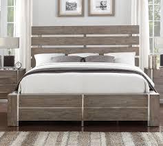 Contemporary King Bedroom Set Gray U0026 Silver Contemporary 6 Piece King Bedroom Set Buena Vista