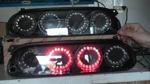 custom supra tail lights 93 series tail lights w single 10mm rings m2ts youtube