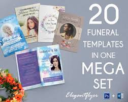 sle of funeral programs funeral programs etsy