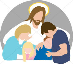 jesus comforts family grief church clipart