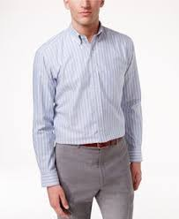 club room estate men u0027s wrinkle resistant classic blue stripe dress