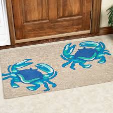crab decorations for home blue crabs indoor outdoor rugs