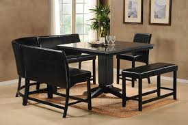 Dining Room Bench With Back by Dining Room Set With Bench Etolin 6 Piece Dining Setbench Kitchen