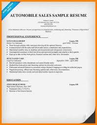 Car Sales Resume Automobile Sales Resume Salesperson Resume Car Sales Resume