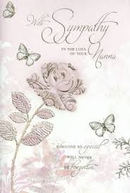 simon elvin traditional sympathy cards loss of nanna from
