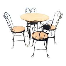 ice cream table and chairs 1930 s ice cream parlor chairs and table set chairish
