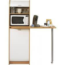 table cuisine pivotante meuble de cuisine avec rangement blanc et naturel kitchou