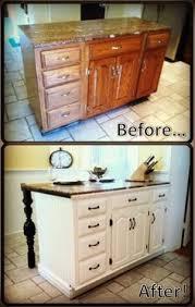 Diy Island Kitchen Diy Kitchen Island From Stock Cabinets Diy Home Pinterest
