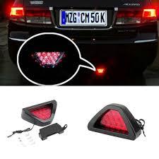 stop sign with led lights new motorcycle tail light motorbike moto brake light flash strobe