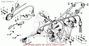 honda xl125 k1 1975 usa wire harness schematic partsfiche