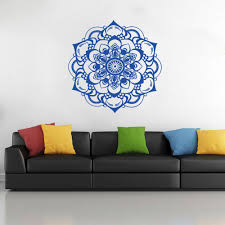 Wall Decals Mandala Ornament Indian by Mandala Flower Indian Wall Stickers Vintage Bedroom Living Room