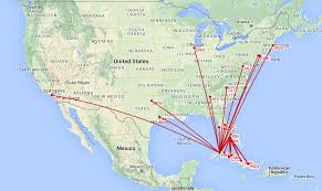 Alaska Airlines Destinations Map by Airlines Apply For Service To Cuba Airlinegeeks Com