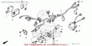 honda nx650 dominator 1991 m sweden wire harness ignition coil