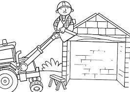 scoop helps bob roof bob builder colouring