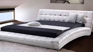 White Leather Bed Frame King King Size Leather Bed Frames Bed Frames Ideas Pinterest