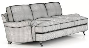restoration hardware english roll arm upholstered sofa 3d model