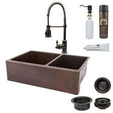 double copper farmhouse u0026 apron kitchen sinks kitchen sinks