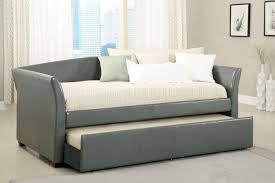 cm1956 delmar daybed in gray leatherette w trundle