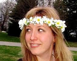 70s hair accessories 70s flower child etsy