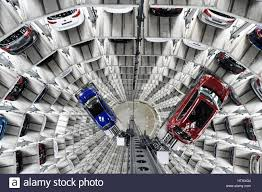 volkswagen headquarters volkswagen golf cars are loaded in a delivery tower at the