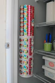 how to store wrapping paper how to organize gift wrapping supplies creatively organized