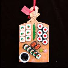 sushi presentation personalized christmas ornament christmas