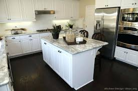 white kitchen cabinets black countertops and ideas new cost