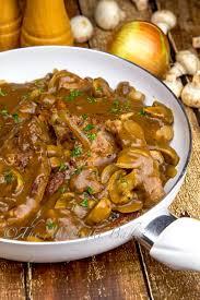 turkey and mushroom gravy recipe skillet pork chops in onion mushroom gravy the midnight baker