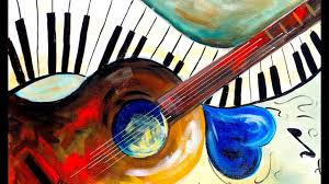 easy painting beginners on canvas music abstract home painting