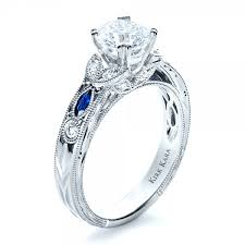 sapphire and engagement rings blue sapphire engagement ring kirk kara 1415