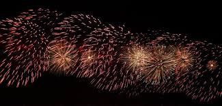 fireworks festive lights against the black sky stock