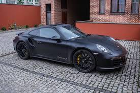 Porsche 911 Turbo - stunning matte black porsche 911 turbo s gtspirit