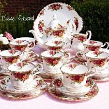 country roses tea set tea set tea set vintage tea set royal albert country roses