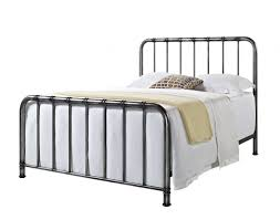 furniture tristen queen metal bed in antique pewter 87500 87521