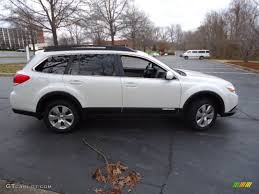 subaru outback white satin white pearl 2012 subaru outback 3 6r limited exterior photo