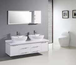 bathroom minimalis white double bathroom vanity wall mounted