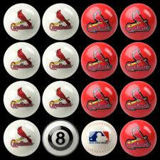 pool tables st louis st louis cardinals home vs away billiard ball full set of 16 imp 50